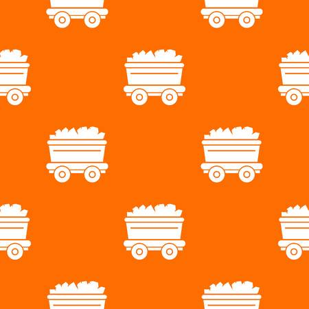 Mine cart pattern vector orange