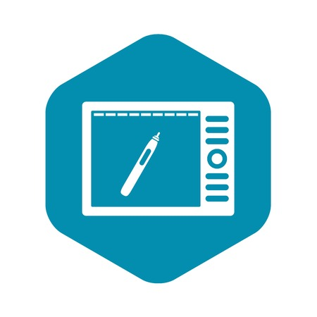 Graphics tablet icon, simple style