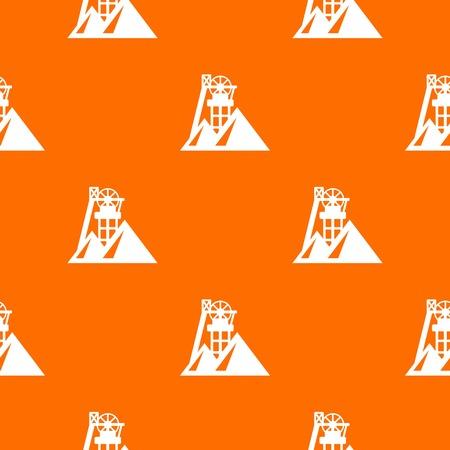 Mine pattern vector orange
