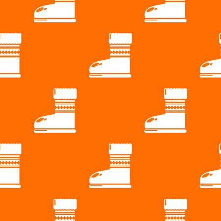 Ugg boots pattern vector orange for any web design best Vectores