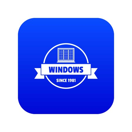 Construction decotrative icon blue vector
