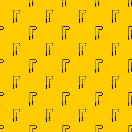 Skipping rope pattern seamless vector repeat geometric yellow for any design