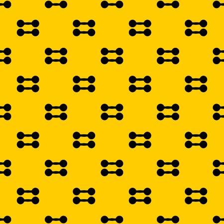 Pair of dumbbells pattern seamless vector repeat geometric yellow for any design Illustration