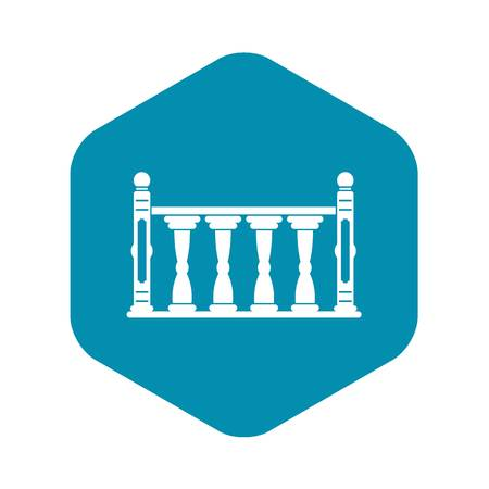 Balustrade icon, simple style