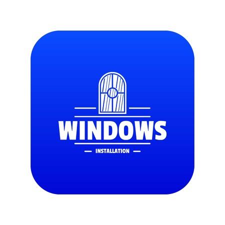 Window installiation icon blue vector
