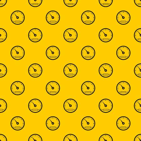 Speedometer pattern seamless vector repeat geometric yellow for any design Stock Illustratie