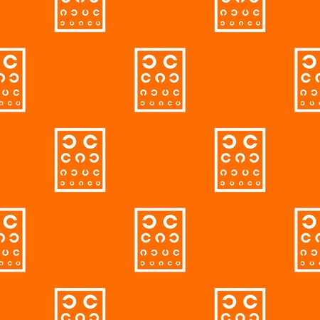 Ophthalmology tablet pattern vector orange