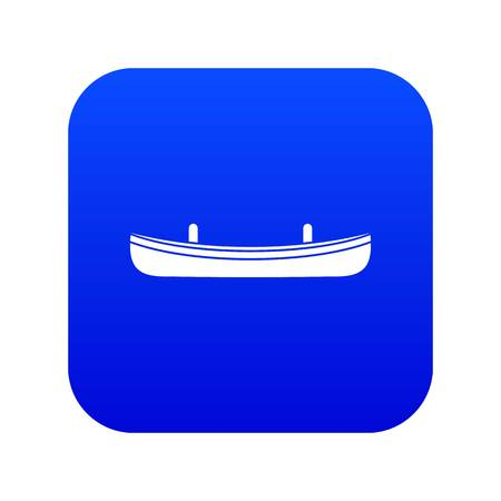 Small boat icon digital blue for any design isolated on white vector illustration