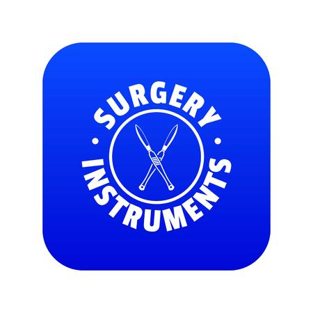 Surgery instrument icon blue vector