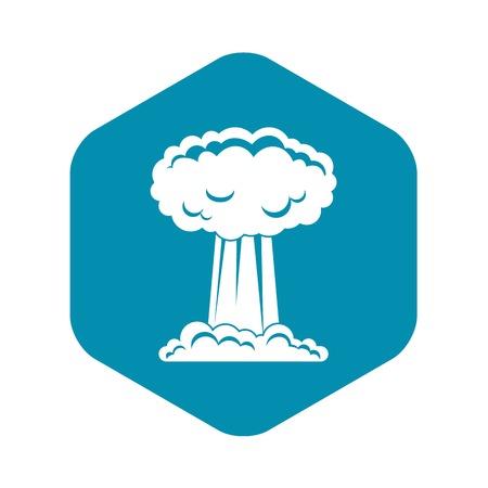Mushroom cloud icon, simple style