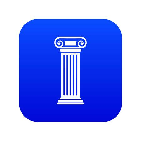 Roman column icon digital blue Illustration