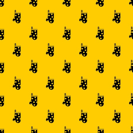 Kitchen glove pattern seamless vector repeat geometric yellow for any design