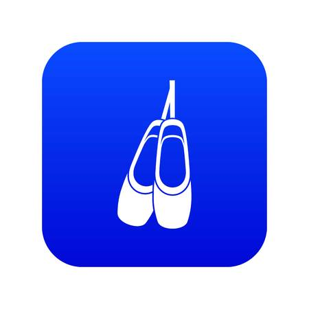 Pointe shoes icon digital blue for any design isolated on white vector illustration