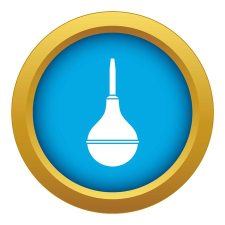 Medical pear icon blue vector isolated