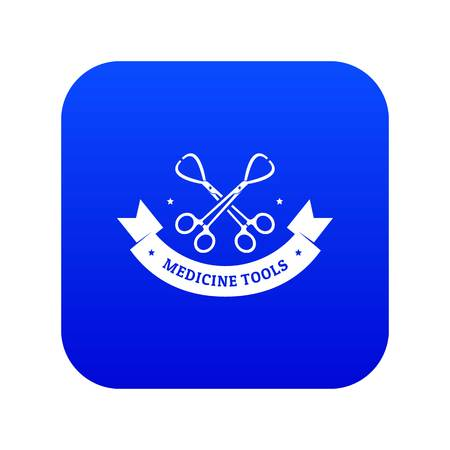 Instrument for medicine icon blue vector Illustration