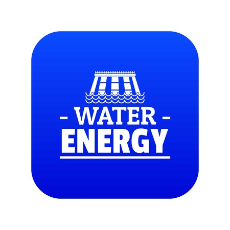 Drop water energy icon blue vector