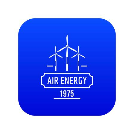 Air energy icon blue vector