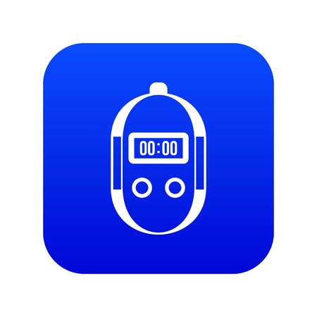 Stopwatch icon digital blue for any design isolated on white vector illustration Banque d'images - 130239211