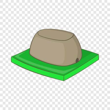 Sigiriya rock icon, cartoon style 向量圖像