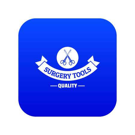 Quality instrument icon blue vector Vettoriali