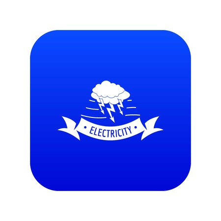 Wind energy icon blue vector