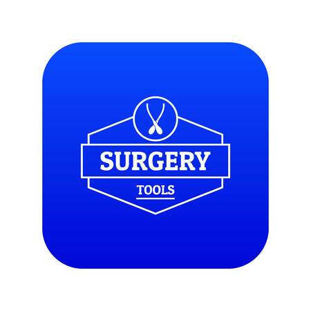 Surgery tool icon blue vector Illustration