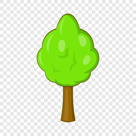 Park tree icon, cartoon style