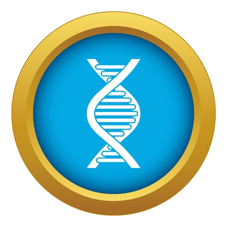DNA strand icon blue vector isolated on white background for any design Ilustração