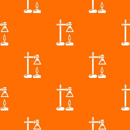 Chemical process pattern vector orange for any web design best