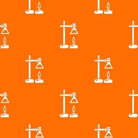 Vecteur de modèle de processus chimique orange pour tout meilleur web design