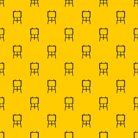Wooden easel pattern seamless vector repeat geometric yellow for any design