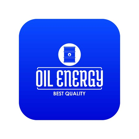 Barrel oil icon blue vector