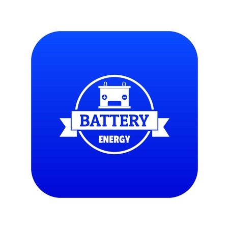 Car battery icon blue vector