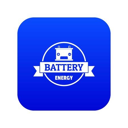 Car battery icon blue vector