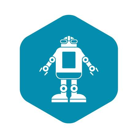 Automation machine robot icon, simple style