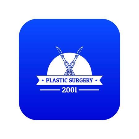 Plastic surgery icon blue vector Vector Illustration
