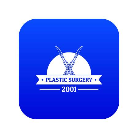 Plastic surgery icon blue vector