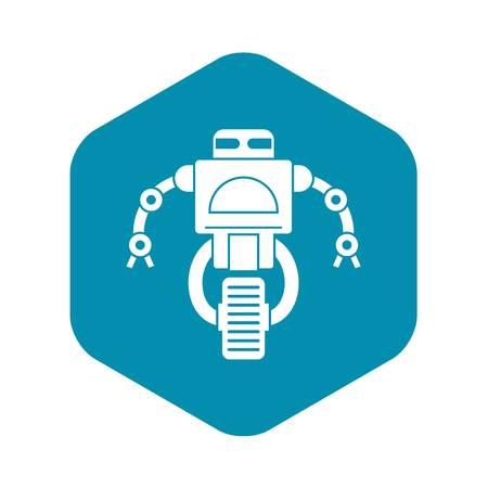 Machine robot icon, simple style Illustration