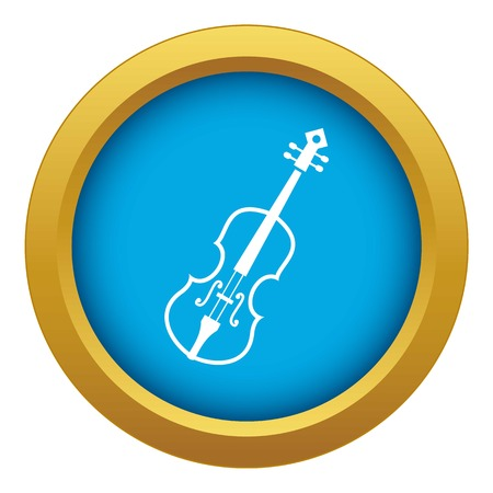 Cello icon blue vector isolated on white background for any design