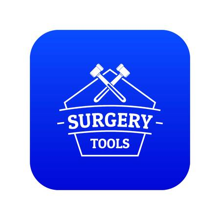 Medical tool icon blue vector Illustration