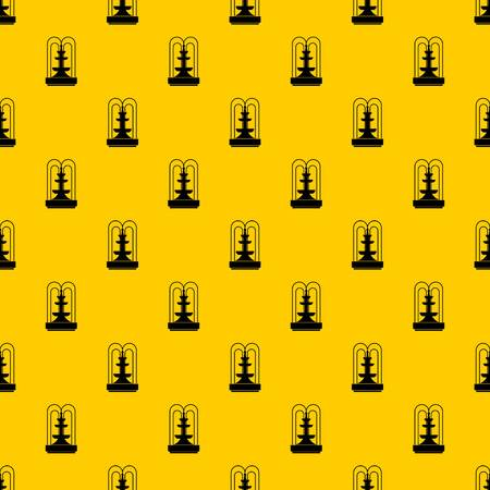 Fountain pattern seamless vector repeat geometric yellow for any design