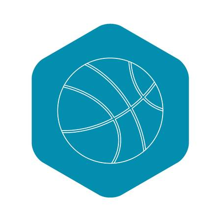 Basketball icon. Outline illustration of basketball vector icon for web