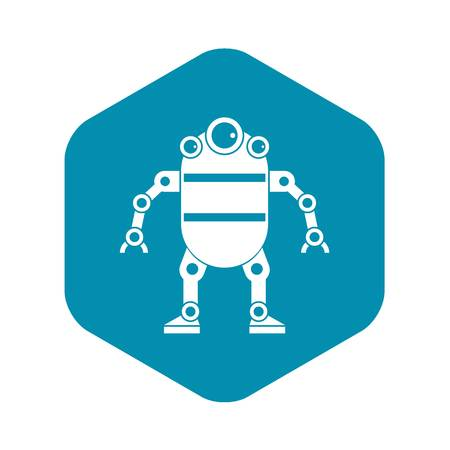 Robot icon. Simple illustration of robot vector icon for web