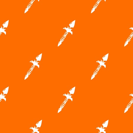 Spear pattern vector orange for any web design best Иллюстрация