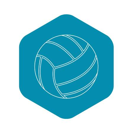 Volleyball ball icon. Outline illustration of volleyball ball vector icon for web Illustration