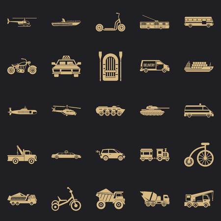 Ferriage icons set. Simple set of 25 ferriage vector icons for web for any design