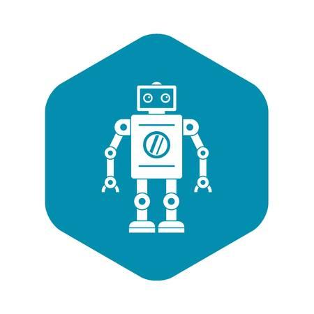 Retro robot icon. Simple illustration of retro robot vector icon for web