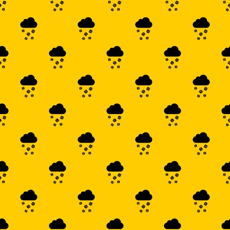 Cloud and hail pattern seamless vector repeat geometric yellow for any design