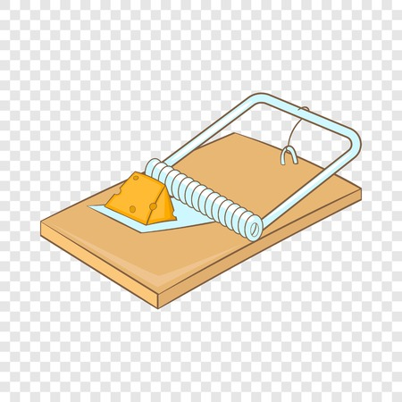 Mousetrap icon. Cartoon illustration of mousetrap vector icon for web Vector Illustration