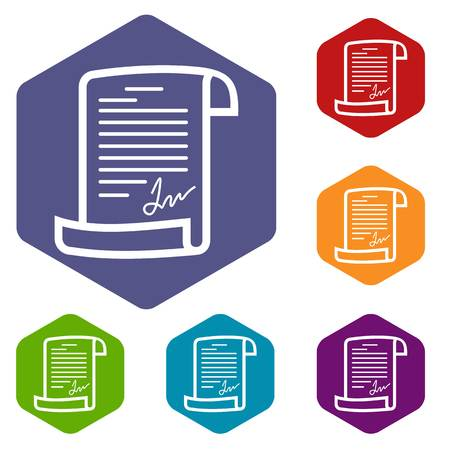 Agreement icons vector hexahedron